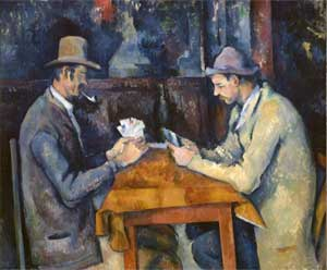 """The Card Players"" by Cezanne. Samuel Courtauld Trust-Courtauld Gallery, London"